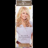 Clip In Medium Golden Blonde 16 Inch Hair Extension