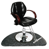 Macee Black Styling Chair with Base with FREE Half Circle Mat