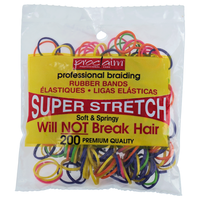 Rubber Bands Assorted Brights 200 Count