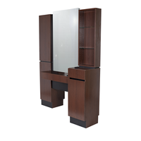470.63 Reve Brighton Walnut Back-to-Back Retail Styling Vanity