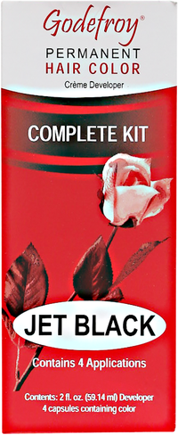 Jet Black Permanent Hair Color Kit