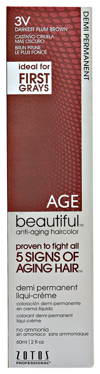 3V Darkest Plum Brown Demi Permanent Liqui Creme Hair Color