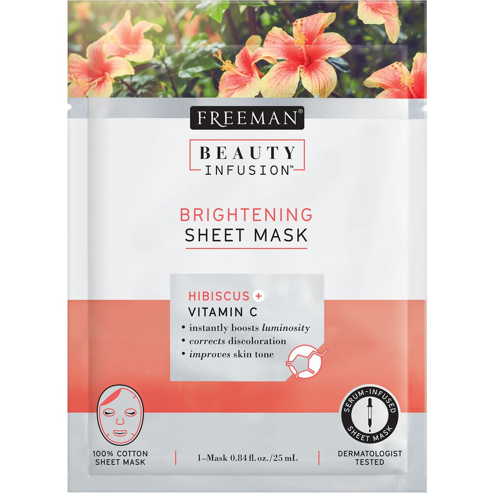 Freeman Beauty Infusion Brightening Hibiscus Vitamin C Sheet Mask