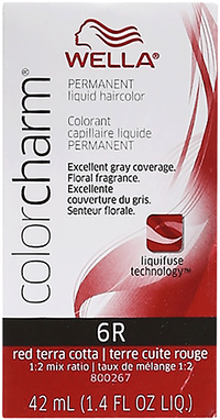 Red Terra Cotta Color Charm Liquid Permanent Hair Color
