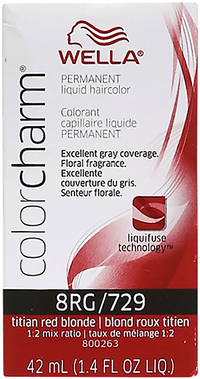 Titian Red Blonde Color Charm Liquid Permanent Hair Color