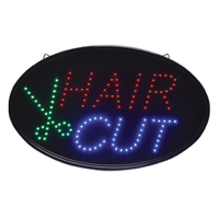 Oval Hair Cut LED Sign