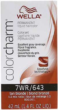 Tan Blonde Color Charm Liquid Permanent Hair Color