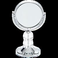 Chrome Travel Mirror with Clear Acrylic Ball Stem