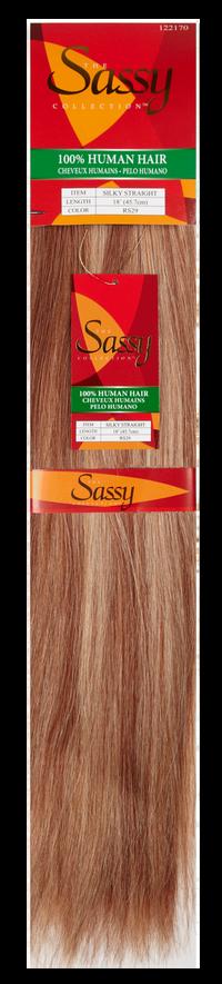 Silky Straight Blonde Auburn 18 Inch Human Hair Extension
