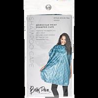 Teal Designer Shampoo Cape