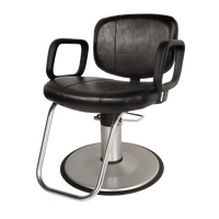 J01 Cody Hydraulic Styling Chair with Round Base Black