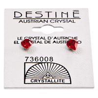 Destine Heart-Shaped Austrian Crystal Earrings