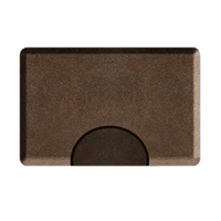 3 X 5 Granite Copper Rectangle Mat with Chair Depression