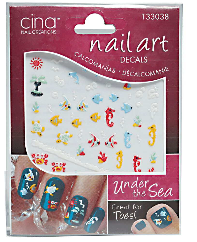 Cina nail art 3 d decals under the sea 3 d nail art decals prinsesfo Image collections