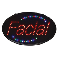 Oval Facial LED Sign