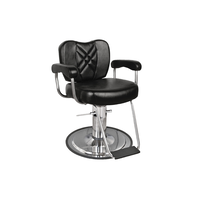 Black Metro Barber Chair