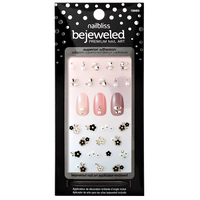 Flower Power Bewjeweled Nail Art