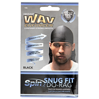 Snug Fit Bold Black Do Rag