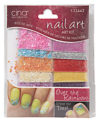 Over The Rainbow and Crushed Shells Glitter Jewelry Decals