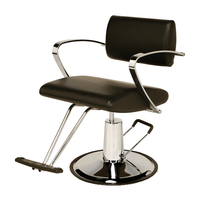 AR-2109-D Veneto Styling Chair with Round Base - Black