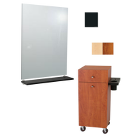 G06 Montego Mobile Styling Vanity with Mirror Matte Black
