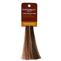 Clip In Toffee Brown Human Hair Swatch