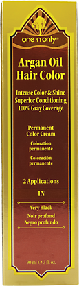 1N Very Black Permanent Cream Hair Color