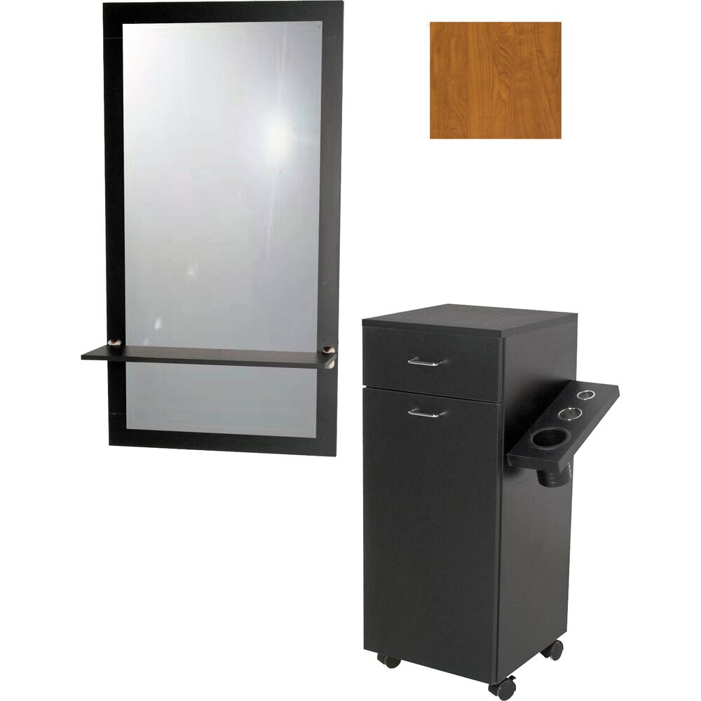 Collins g63 salinas wall mounted mirror ledge with for Salon stations