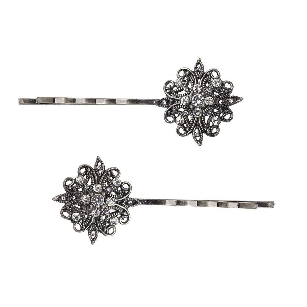 Dcnl Renaissance Filigree Silver Bobby Pins