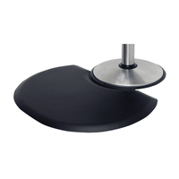 2.5 x 3.5 Oval Black Mat with cut-out chair depression