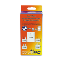 Dual Voltage International Travel Converter & Plug Kit