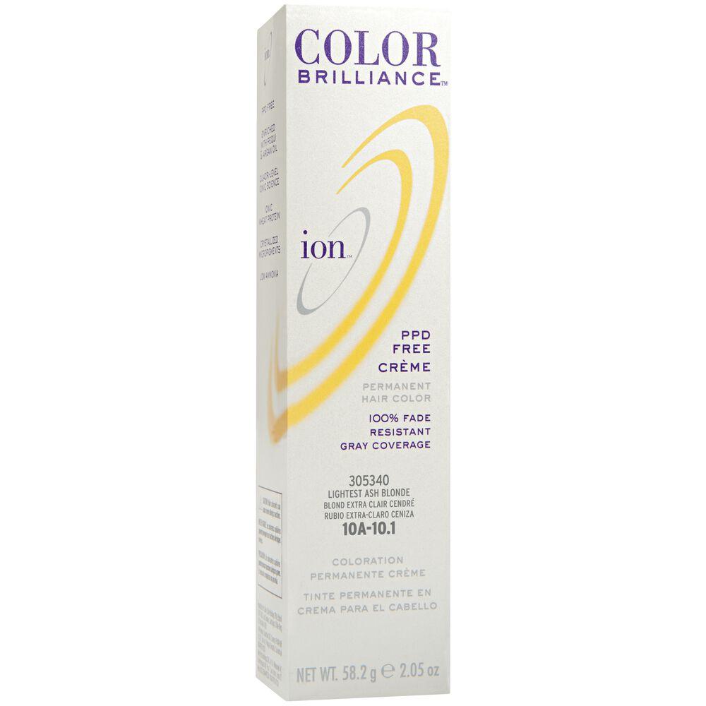 Ion color brilliance permanent creme hair color 10a lightest ash blonde permanent creme hair color nvjuhfo Choice Image