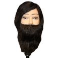 Male Manikin with Human Hair Beard