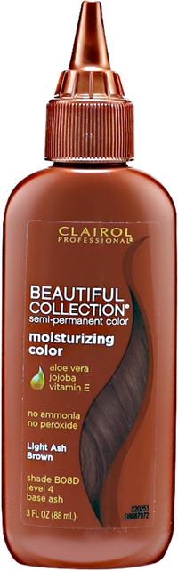 Light Ash Brown Moisturizing Semi Permanent Hair Color
