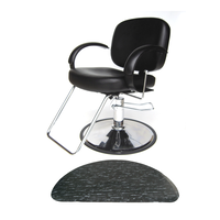 Layla All-Purpose Chair with 3' x 5' Black Marbleized Half Circle Mat