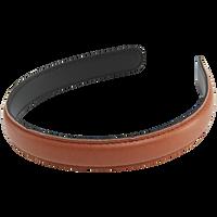 Brown Pleather Headband