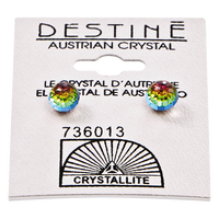 Destine Vitrail Medium 6mm Faceted Ball Earring