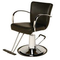 AR-D002-B Emily Styling Chair on Round Base  - Black