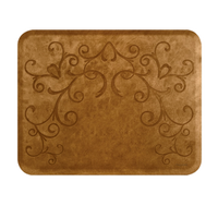 Bella Copper Leaf 4' X 5' Mat without Chair Depression