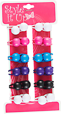 Children's Small Twin Beads Ponytailers
