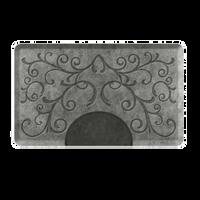 Bella Silver Leaf 3' X 5' Rectangular Mat with Chair Depression