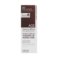 Anti-Aging 3V Dark Plum Brown Permanent Liquid Hair Color