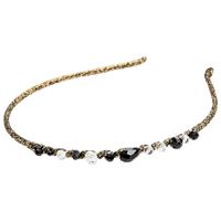 Gold Thread Headband With Beads