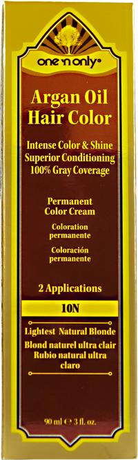 10N Lightest Natural Blonde Permanent Hair Color Cream