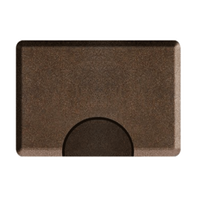 3 X 4.5 Granite Copper Rectangle Mat with Chair Depression