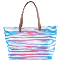 Striped Tie-Dye Tote