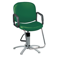 Pibbs Chameleon Hunter Green Styling Chair with 5 Star Base
