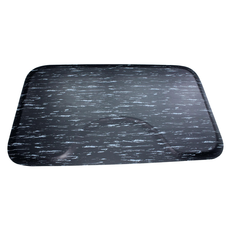 salon mate 3 x 5 black marbleized mat