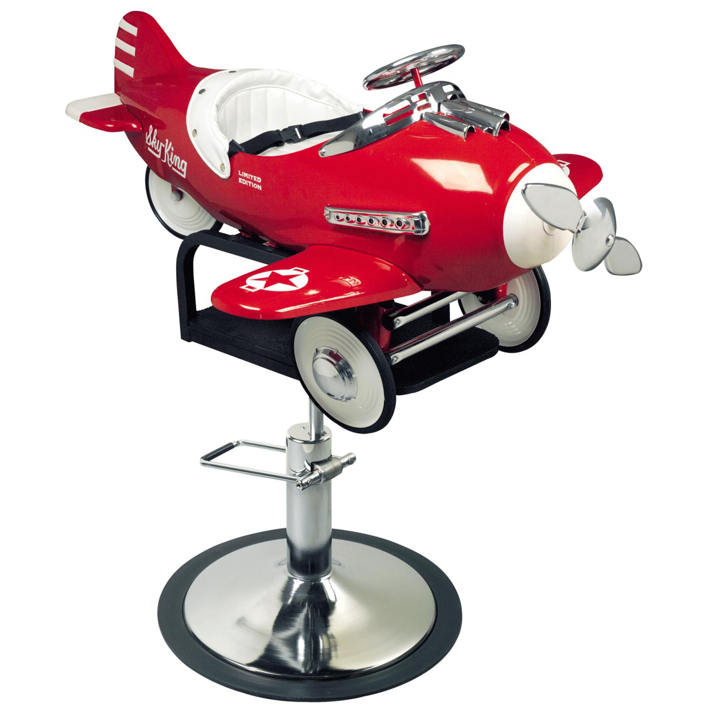 Pibbs Kids Airplane Hydraulic Styling Chair Model 1810
