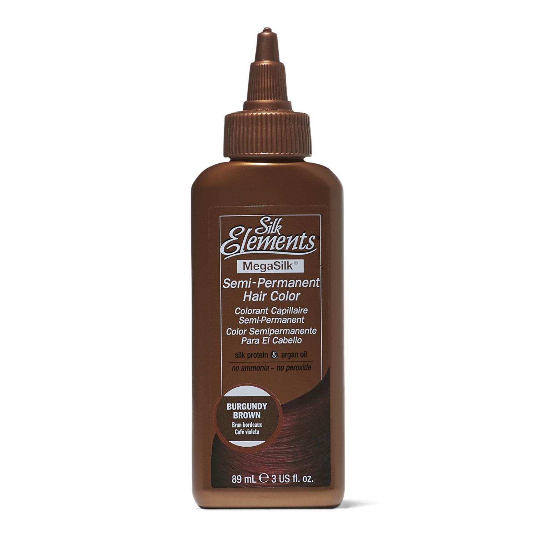 Silk Elements Semi Permanent Hair Color Burgundy Brown